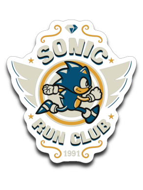 Sonic Run Club-Decals-Typhoonic Artwork|Threadiverse