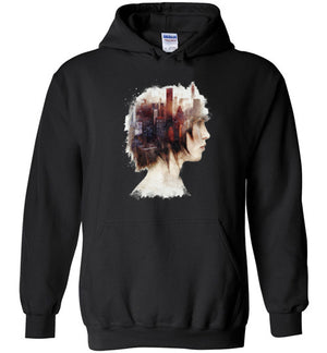 Lady In The City-Indie Hoodies-Barrett Biggers|Threadiverse