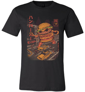 Burger Zilla-Indie Shirts-Illustrata|Threadiverse