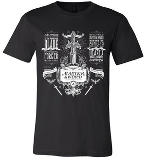 Ye Old Master Sword-Gaming Shirts-Barrett Biggers|Threadiverse