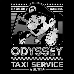Mario Odyssey Taxi Service-Gaming V-Necks-Punksthetic Designs|Threadiverse