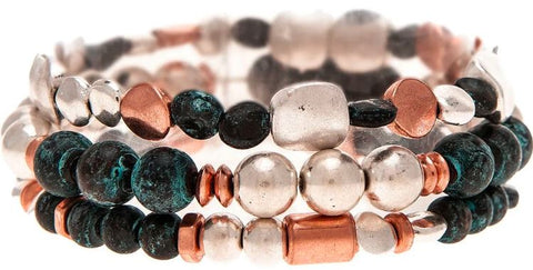 PATINA MULTI BALL BAR BRACELET SET