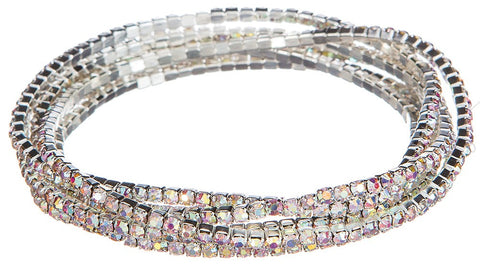 Six Piece Crystal Stretch Bracelet