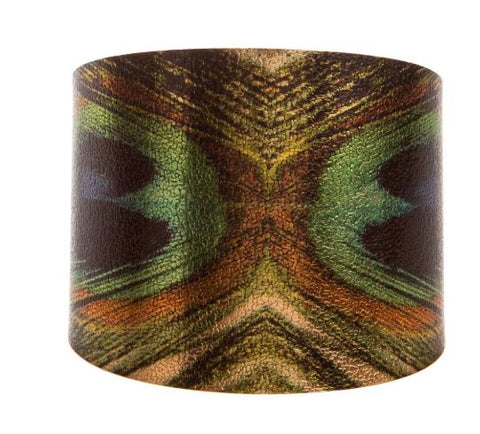 PEACOCK FEATHER CUFF BRACELET
