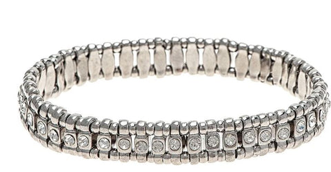 SILVER CLEAR MINI CRYSTALS BRACELET
