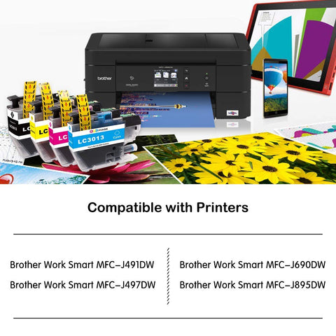 2 Cyan, 2 Magenta, 2 Yellow High Yield Ink Cartridges Work for Brother MFC-J6530DW MFC-J6930DW MFC-J6730DW MFC-J5330DW Printer HGZ 6 Pack Replacement for MFC-J6530DW J6930DW LC3019 XXL LC3019