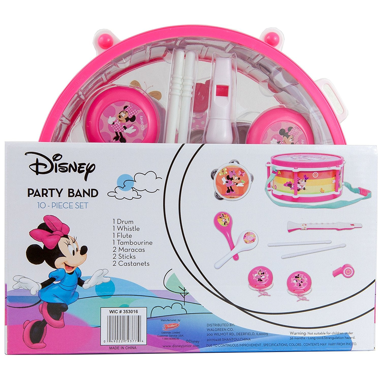 Disney Minnie Mouse Party Band 10 Piece Set Toyboxja