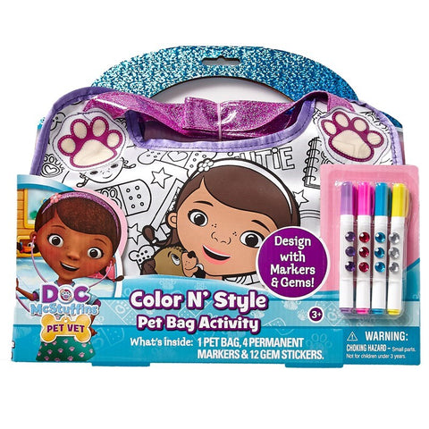 Disney Doc McStuffins Color & Style Pet Bag Activity
