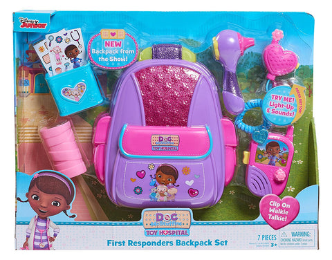 Disney Doc McStuffins Just Play First Responders Backpack Set