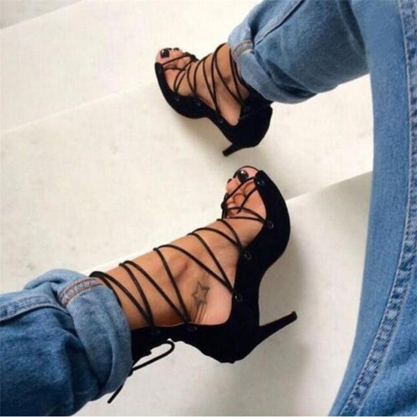 Street Style Strappy Lace Up Roman Gladiator Sandals - Footwear for Women by Zeelous