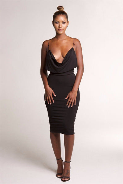 V-Neck Strapless Bodycon Party Dress