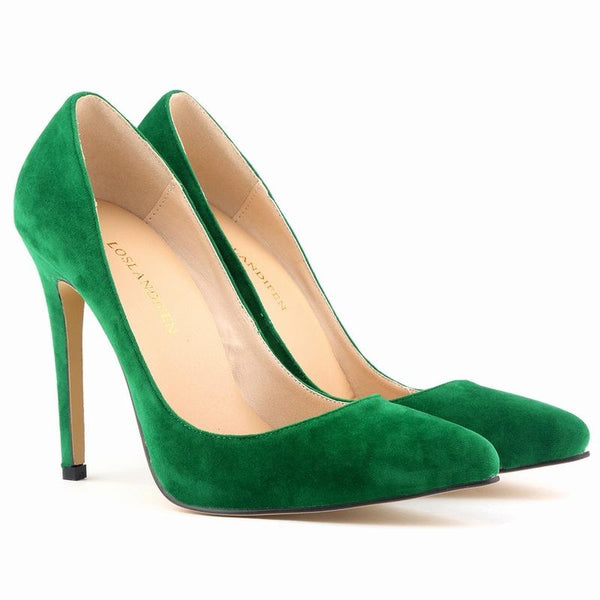 Suede High Heels Stiletto Pumps