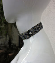 Load image into Gallery viewer, Crystal Beaded Flat Choker