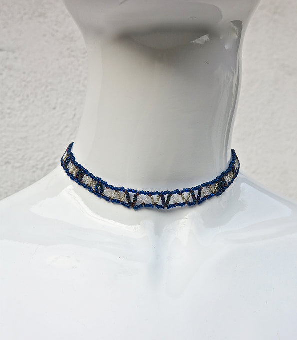 Spider Crystal Beaded Choker