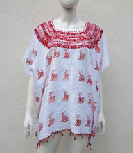 Load image into Gallery viewer, 100% Cotton Huipil with Hand- Embroidered Details.