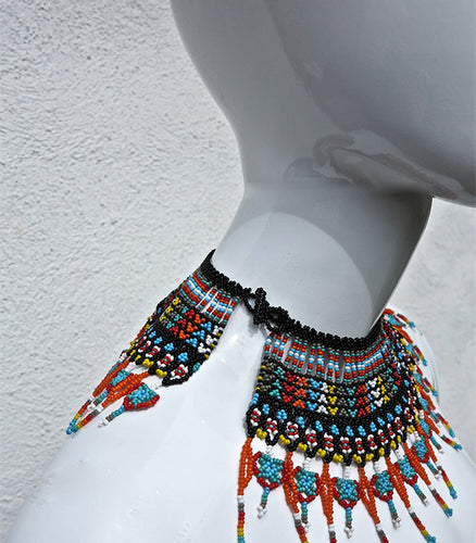 Cleo Beaded Neckpiece