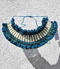 Load image into Gallery viewer, Crochet Necklace with African Trade Beads