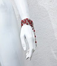 Load image into Gallery viewer, Hand knotted Czech Crystal Bead & Sterlin Silver Versatile Chain
