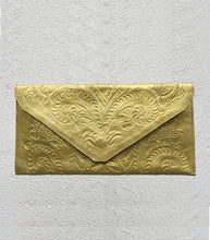 Load image into Gallery viewer, Embossed Leather Clutch