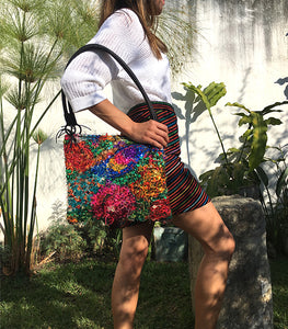 Inverted Huipil Bag intervened with Sequins