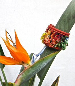 Beaded Inverted Huipil Bracelet