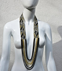 Hand-weaved Beaded Necklace