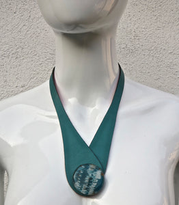 Glass & Leather Neckpiece