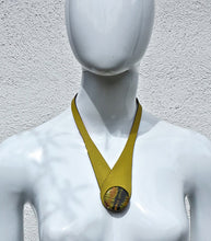 Load image into Gallery viewer, Glass & Leather Neckpiece