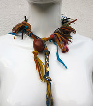 Load image into Gallery viewer, Handcrafted Suede & Resin Statement Necklace