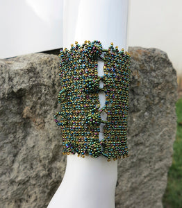 Iridescent Czech Crystal Beaded Bracelet