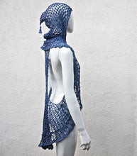 Load image into Gallery viewer, Versatile Crochet Cape with Hoodie