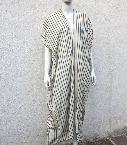 Handmade Long Kimono Weaved on a Foot  Loom