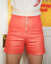 ☾ METALLIC CORAL SHORTS ☽