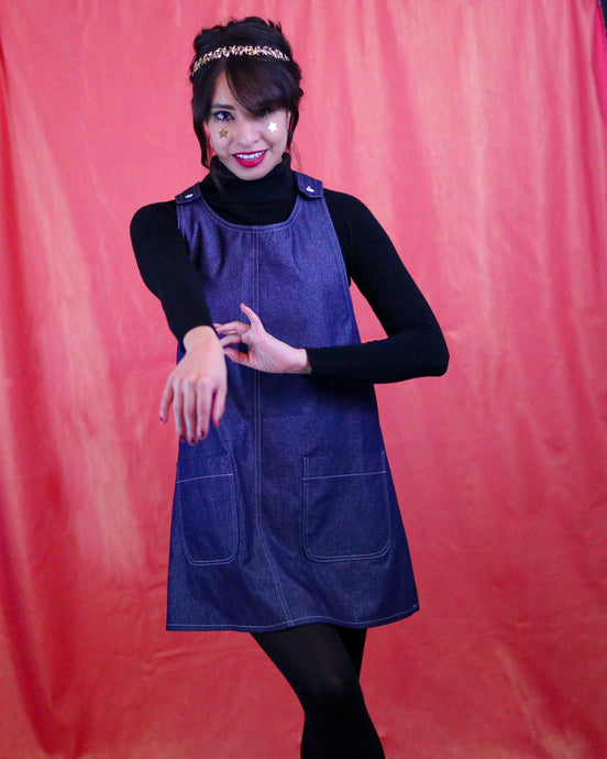 ★ METALLIC PINAFORE ★