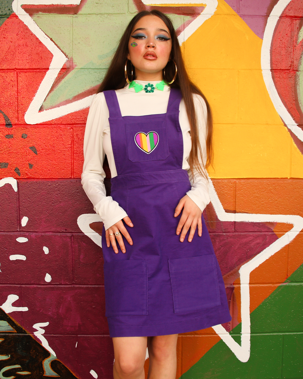 ✿ HEART PATCHED PINAFORE ✿