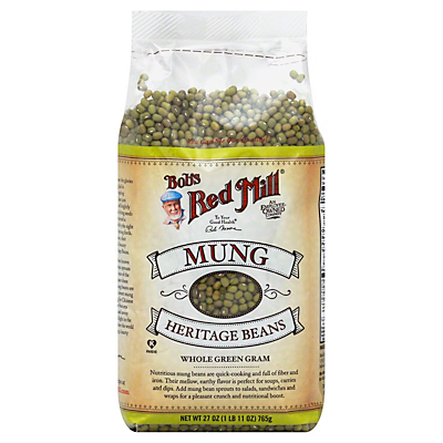 Bob's Red Mill Mung Heritage Beans  27.00 oz  ($0.35/ounce)
