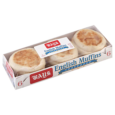 Bays Sourdough English Muffins,6.00 ea ($0.43/count)