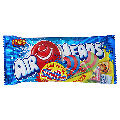 Airheads Chewy Fruity Stripes Candy 6 PK,3.3 OZ ($1.03/each)