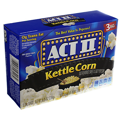 ACT II Kettle Corn Popcorn,3 CT ($0.54/pack)