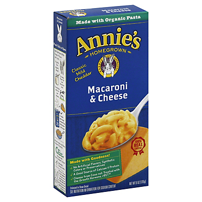 Annie's Homegrown Classic Macaroni and Cheese  6.00 oz  ($0.30/ounce)