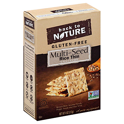 Back to Nature Gluten Free Rice Thin Cracker Multi-seed  4 OZ  ($0.77/ounce)