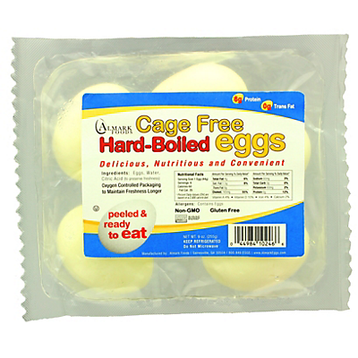 Almark Foods Cage Free Hard Boiled Eggs,6 CT ($0.32/ounce)