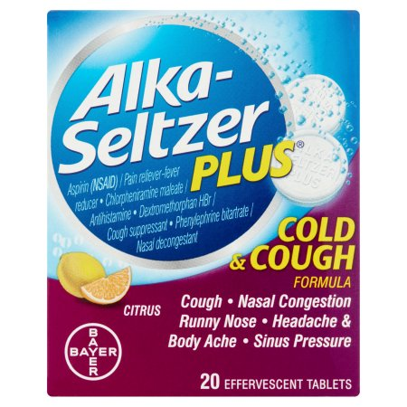 Alka-Seltzer Plus Cold and Cough Formula Citrus Effervescent Tablets 20 CT