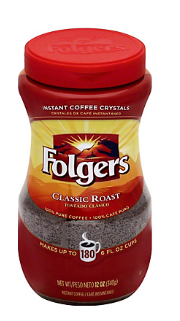 Folgers Classic Roast Instant Coffee,12.00 oz