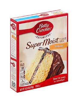 Betty Crocker Super Moist Yellow Cake Mix,15.25 oz