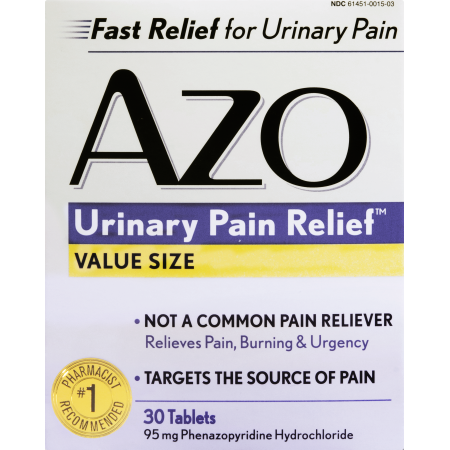 Azo Urinary Pain Relief Tablets Value Size 30 CT