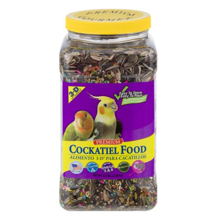 3-D Pet Products Premium Cockatiel Food, 4.5 LB