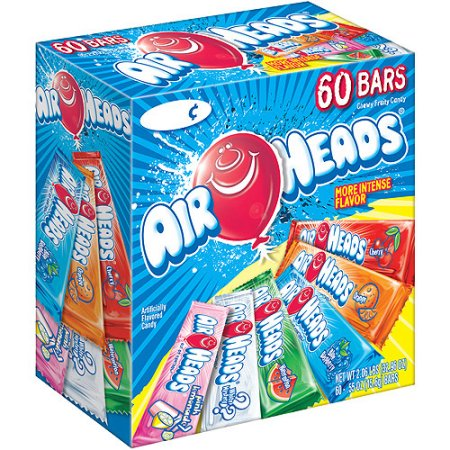 Airheads Assorted Bars, 0.55 oz, 60 ct
