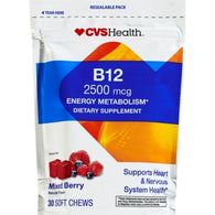 CVS Health B-12 2500mcg Mixed Berry Soft Chews