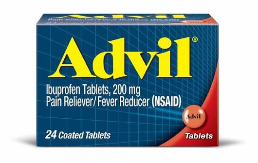 Advil Pain Reliever/Fever Reducer Ibuprofen 200 mg Coated Tablets 24 CT